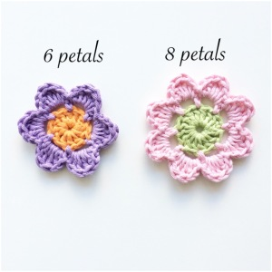 Round 3 of 6 & 8 petal Easy Peasy Flowers