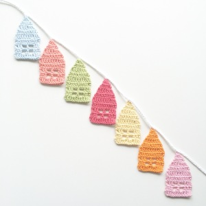 Little Crochet Houses bunting
