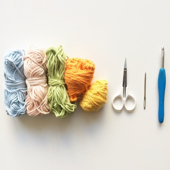Materials for making a Simple Granny Square
