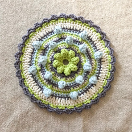 Flower Patch cushion pattern adapted into a mandala